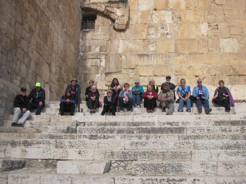 Jerusalem temple southern steps January 2017 Israel Tour