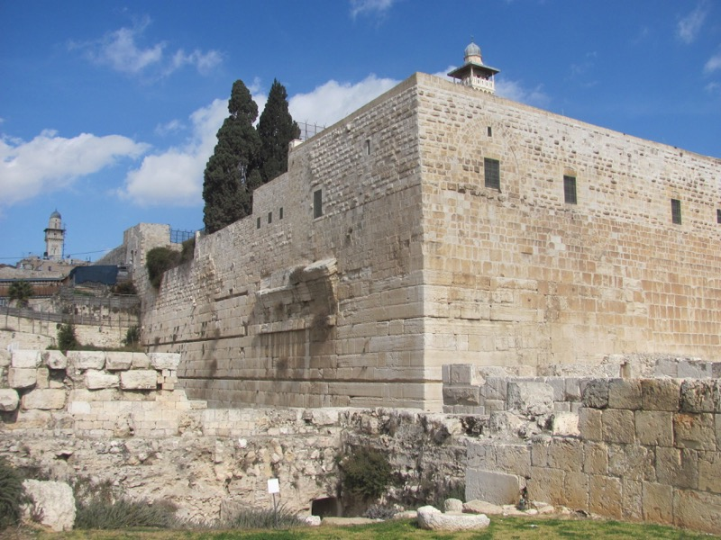 Robinson's arch Jerusalem January 2017 Israel Tour