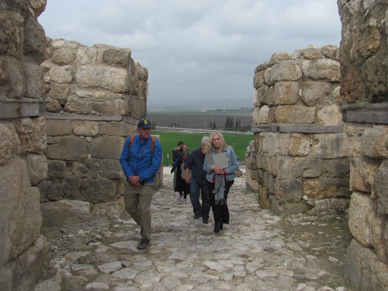 Megiddo Canaanite gate January 2017 FAM Israel Tour