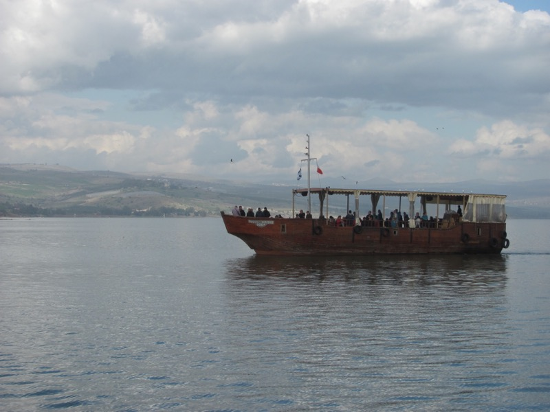 Boat on Sea of Galilee January 2017 FAM Israel Tour