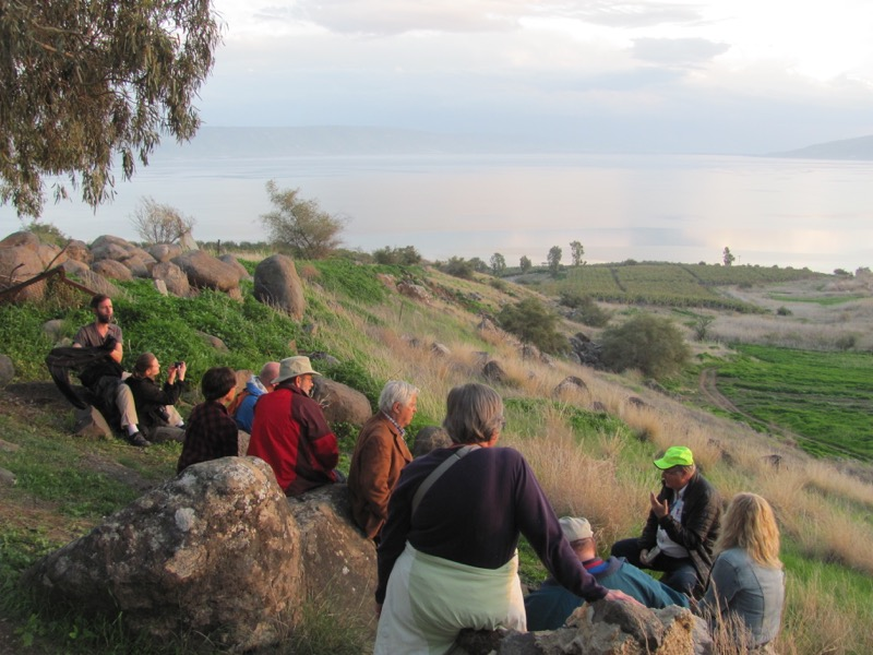Mt. of Beatitudes January 2017 FAM Israel Tour