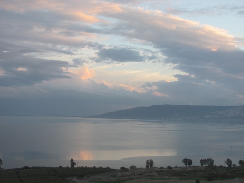 Sea of Galilee from Mt. of Beatitudes January 2017 FAM Israel Tour