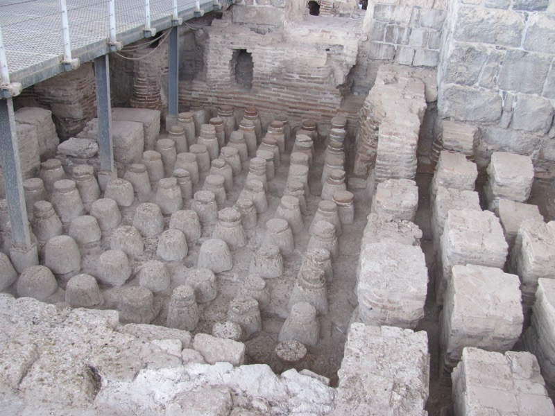 Roman bathhouse Beth Shean January 2017 FAM Israel Tour
