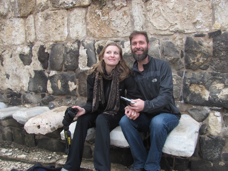 public latrine Beth Shean January 2017 FAM Israel Tour