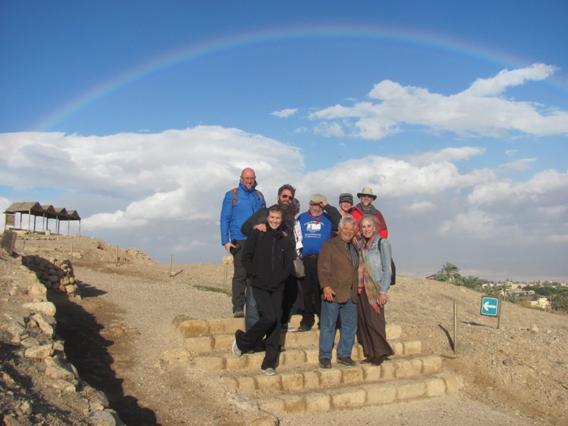 Jericho rainbow January 2017 FAM Israel Tour