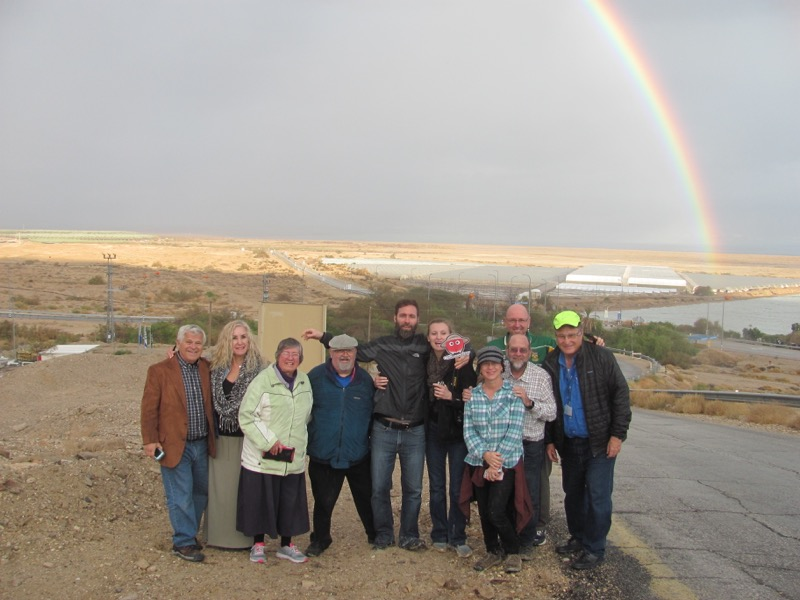 Qumran rainbow January 2017 FAM Israel Tour