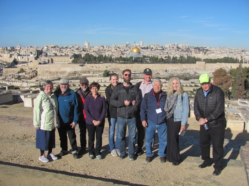 Mt.of Olives Jerusalem January 2017 FAM Israel Tour
