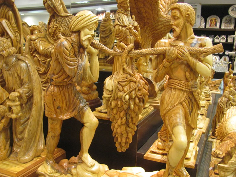 Bethlehem olive wood January 2017 FAM Israel Tour