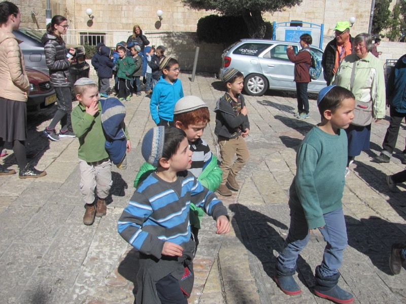 Jewish children Jerusalem January 2017 FAM Israel Tour