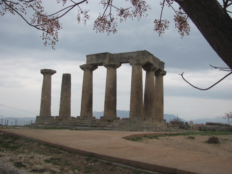 Corinth Temple of Apollo February 2017 Greece Tour