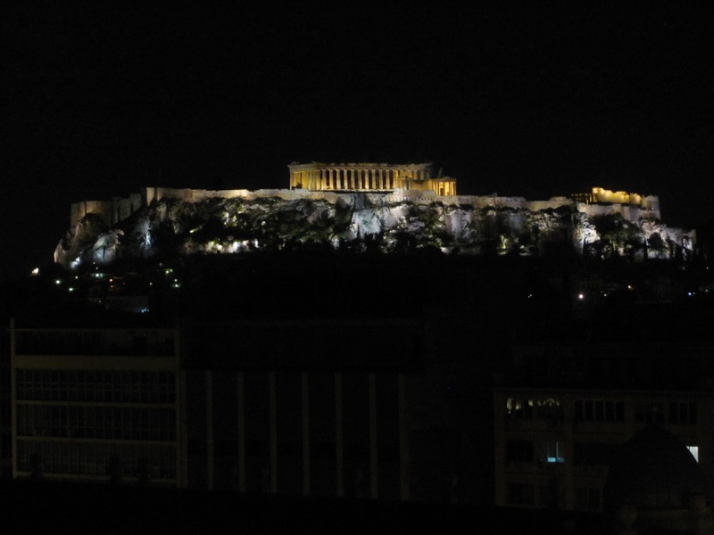 Athens Acropolis at night February 2017 Greece Tour