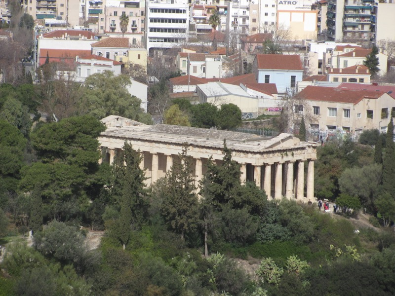 Athens agora temple Greece Tour February 2017