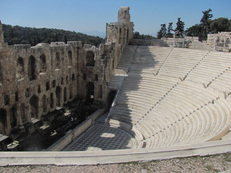 Acropolis Athens Odium Greece Tour February 2017