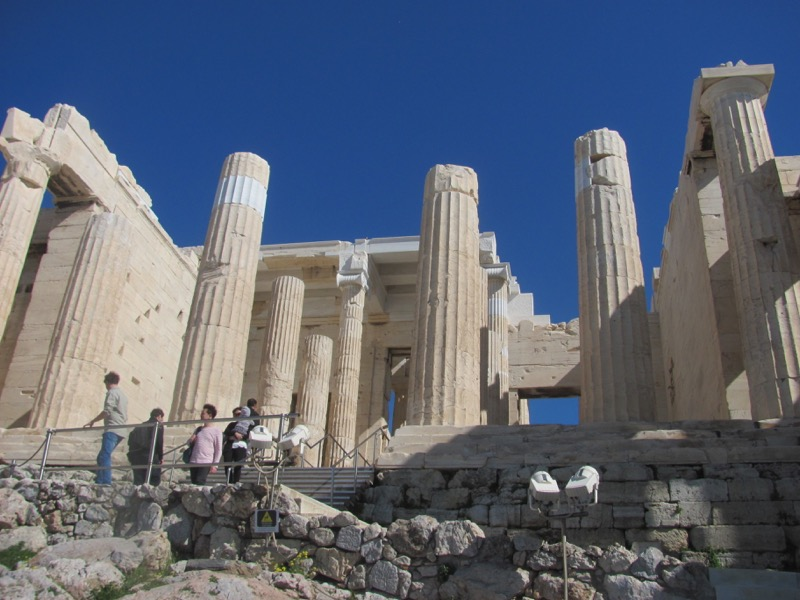 Acropolis Athens Propylea Greece Tour February 2017