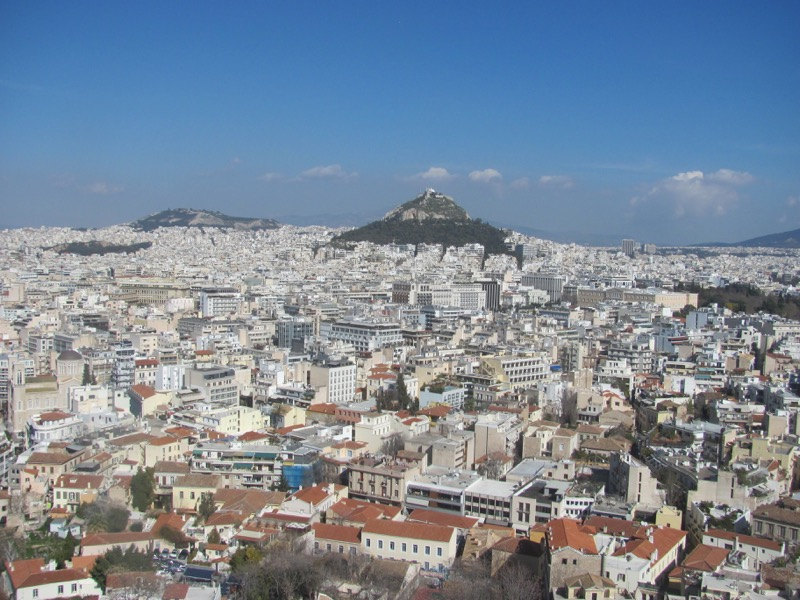 Acropolis View of Athens from Parthenon Greece Tour February 2017