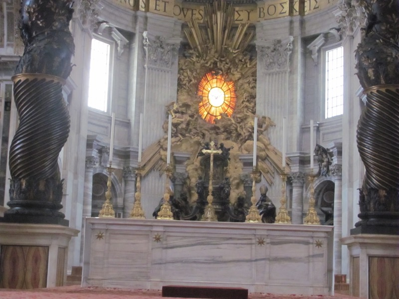 St. Peter's Basilica altar Greece-Italy Tour February 2017