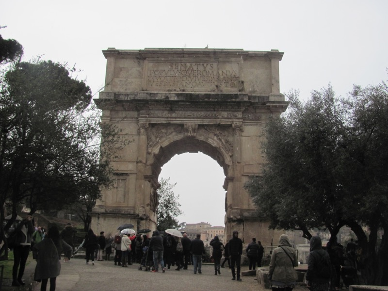 Titus Arch Rome Greece-Italy Tour February 2017
