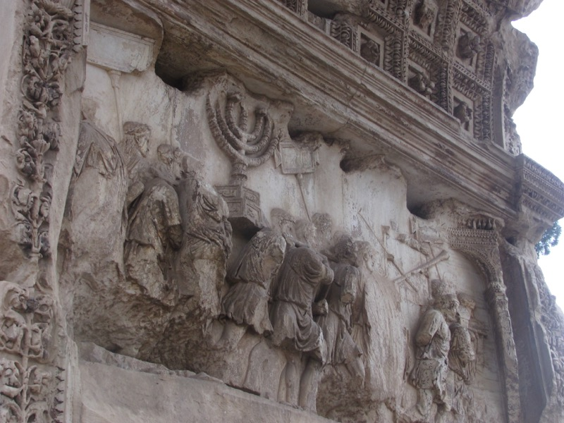 Titus' Arch and menorah
