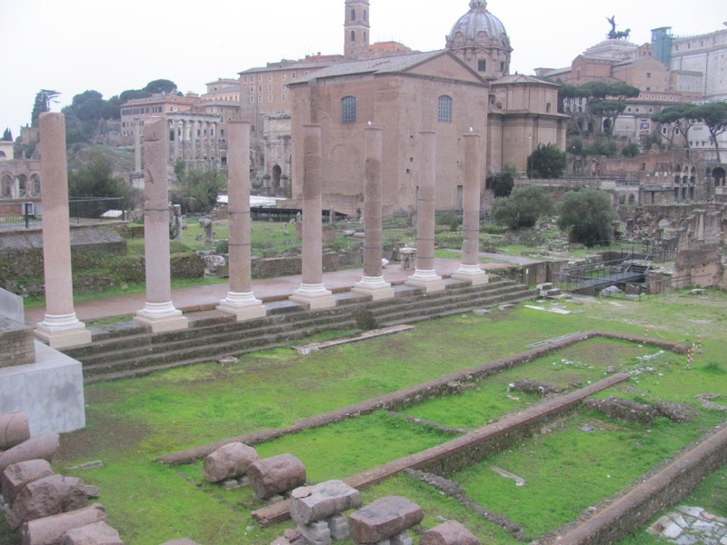 Roman Forum Rome Greece-Italy Tour February 2017