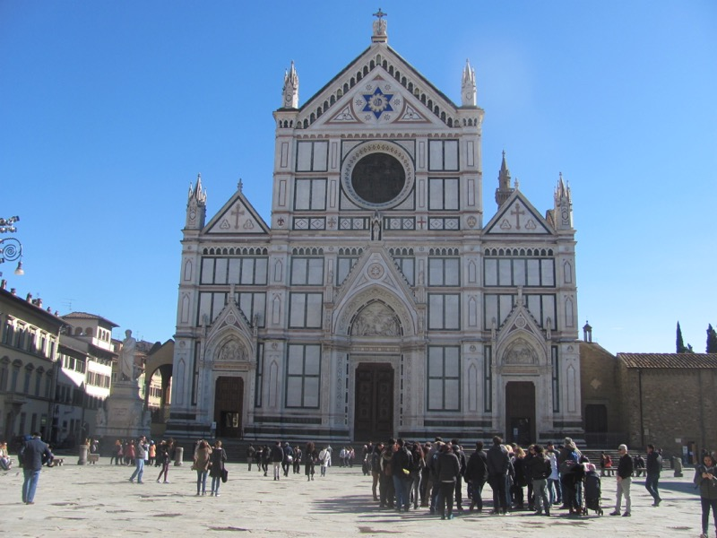 Santa Croce church florence Italy Greece-Italy Tour February 2017