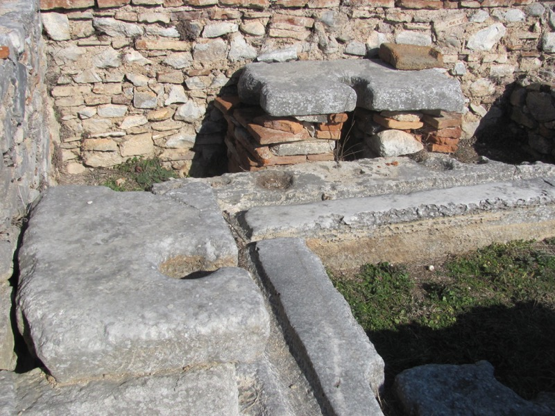Philippi public latrine Greece Tour 2017