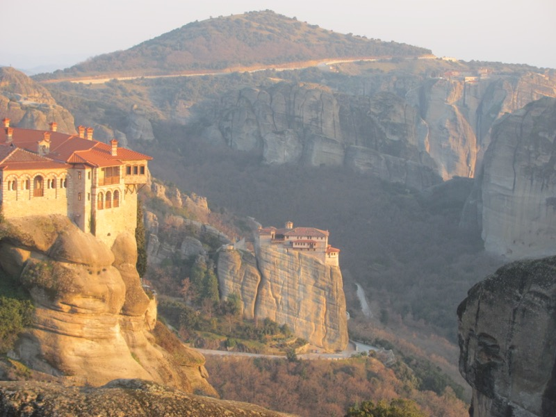 Meteora monastery February 2017 Greece Tour