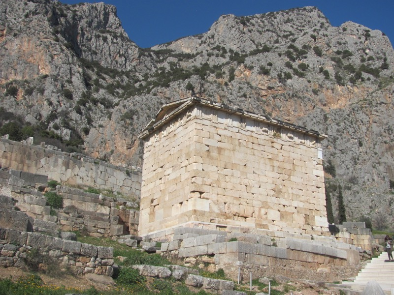 Treasury at Delphi February 2017 Greece Tour