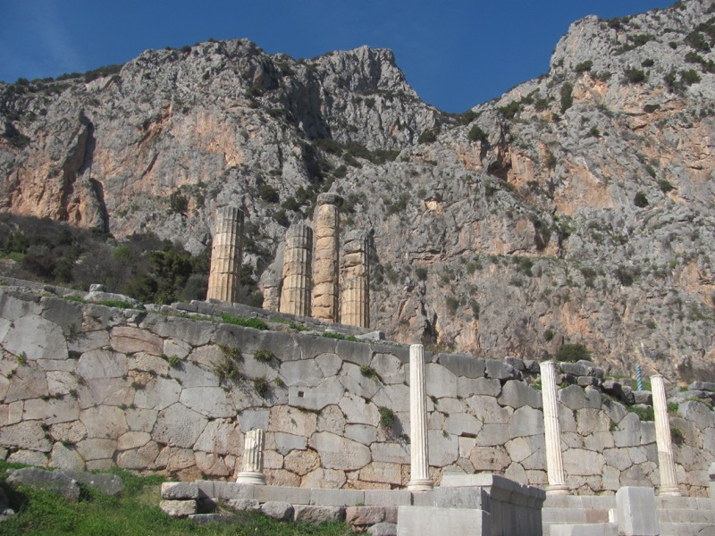 Temple of Apollo Delphi February 2017 Greece Tour