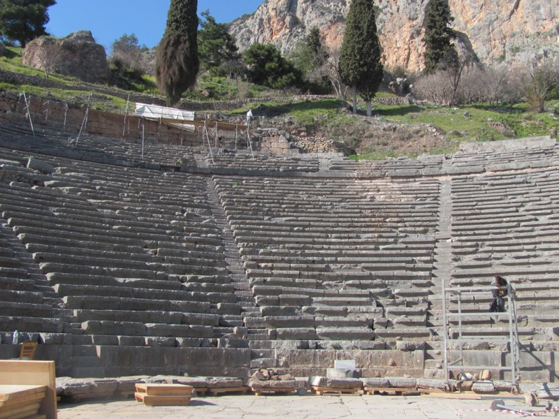 Theater at Delphi February 2017 Greece Tour