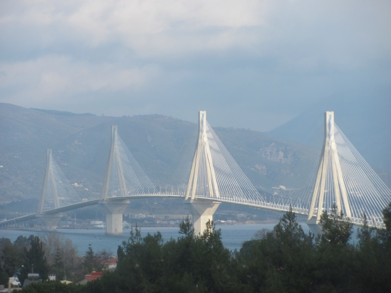 Rio Antirio Bridge Adriatic February 2017 Greece Tour