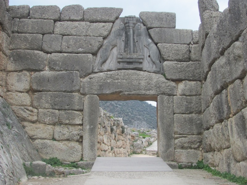 Mycenae Lion's Gate February 2017 Greece Tour