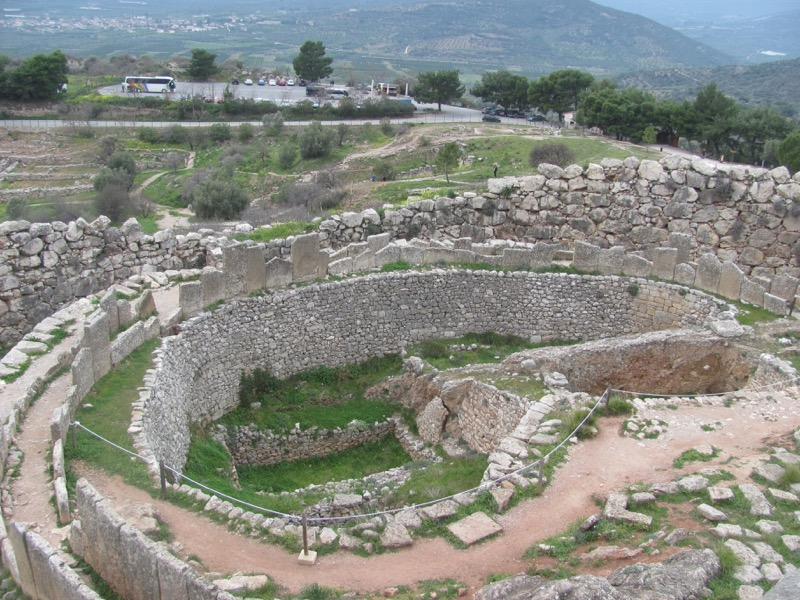 Mycenae shaft tomb February 2017 Greece Tour
