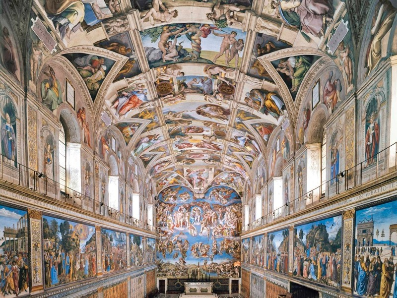 The Sistine Chapel in the Vatican, Rome