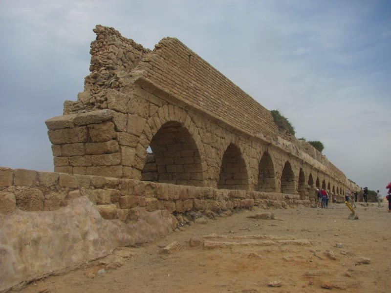 Caesarea aquaduct Israel March 2017 Israel-Jordan Tour