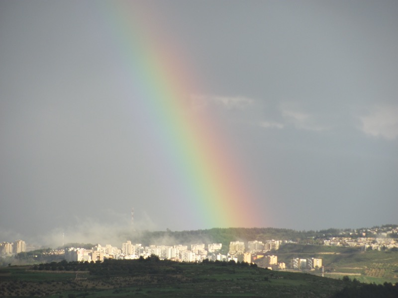 Rainbow in Israel March 2017 Israel-Jordan Tour