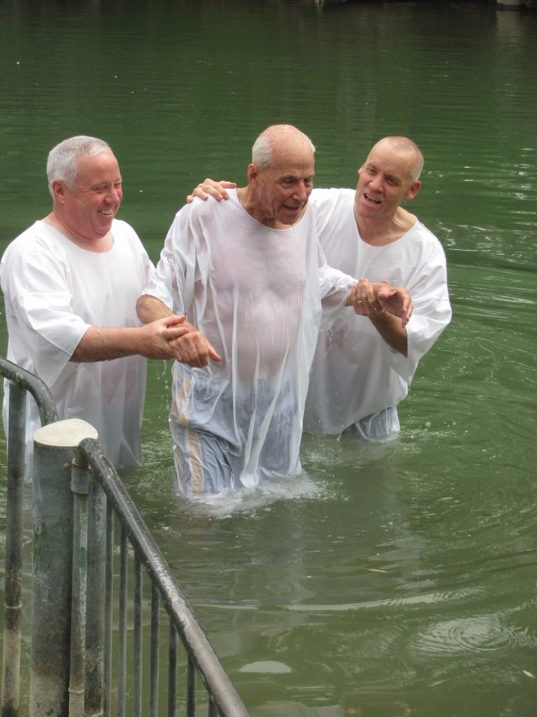 Jordan River Baptism Israel - Jordan Tour March 2017