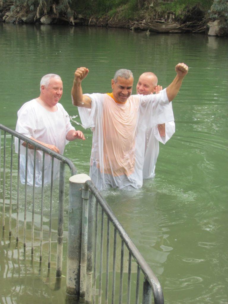 Jordan River Baptism Israel - Jordan Tour March 2017