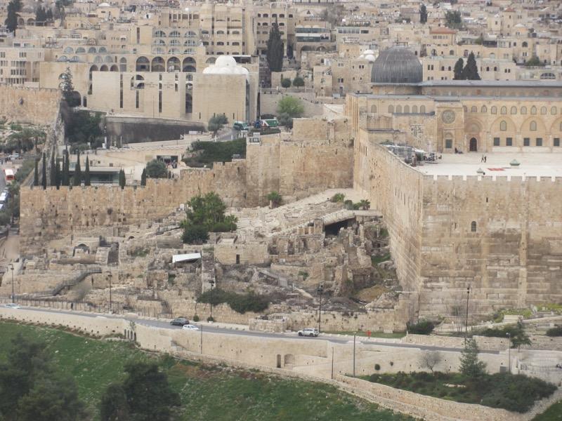 Jerusalem Temple steps Israel-Jordan Tour March 2017