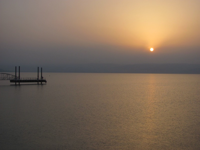 Sunrise on Sea of Galilee April 2017 Israel Tour