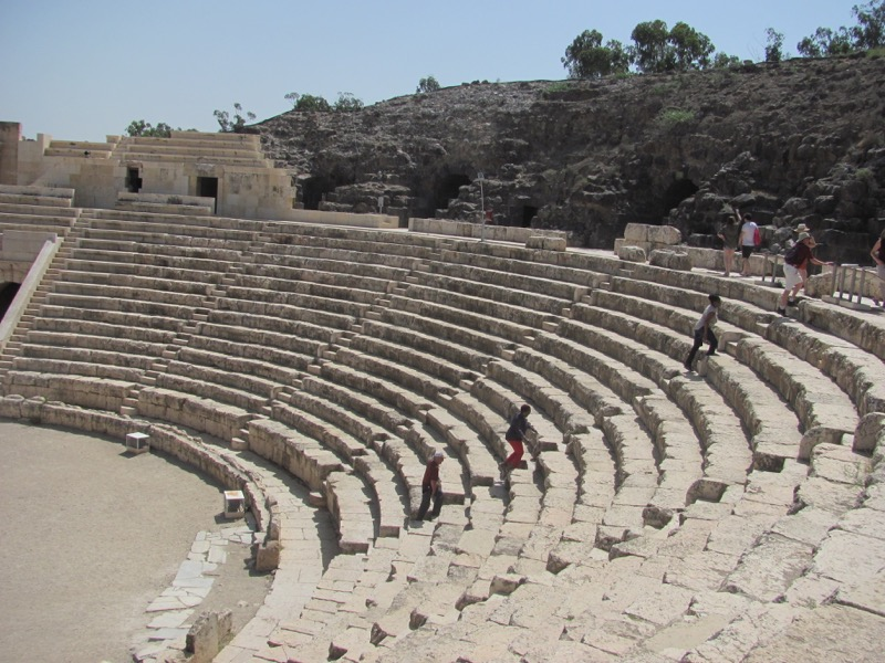 Beth Shean theater April 2017 Israel Tour