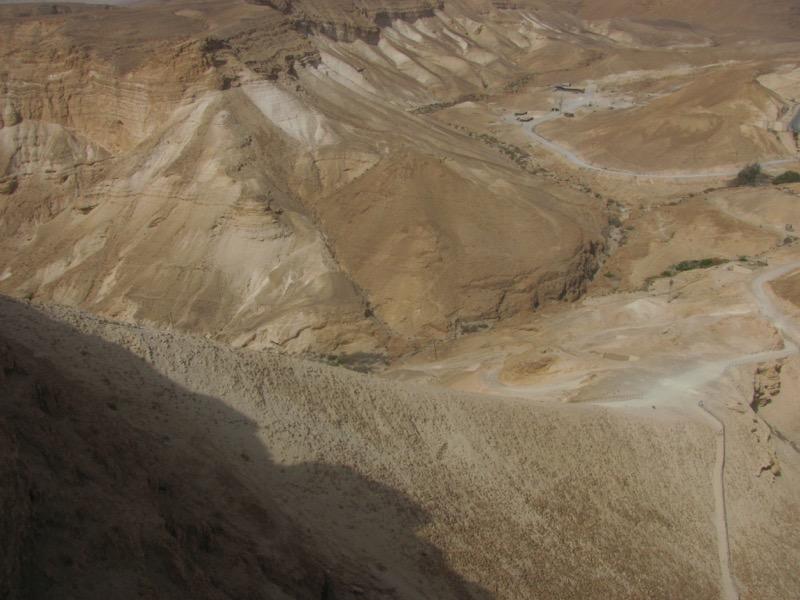 Masada Roman ramp April 2017 Israel Tour
