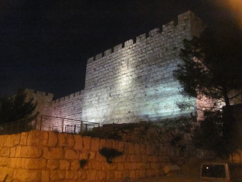 Jerusalem at night April 2017 Israel Tour