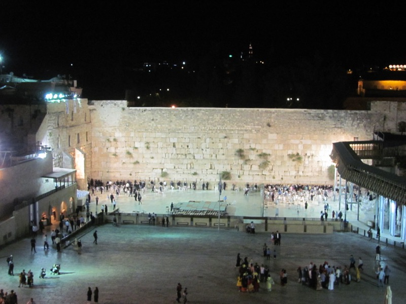 Western Wall at Night April 2017 Israel Tour