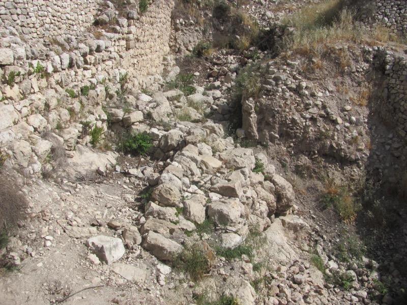 City of David Jebusite wall Jerusalem April 2017 Israel Tour