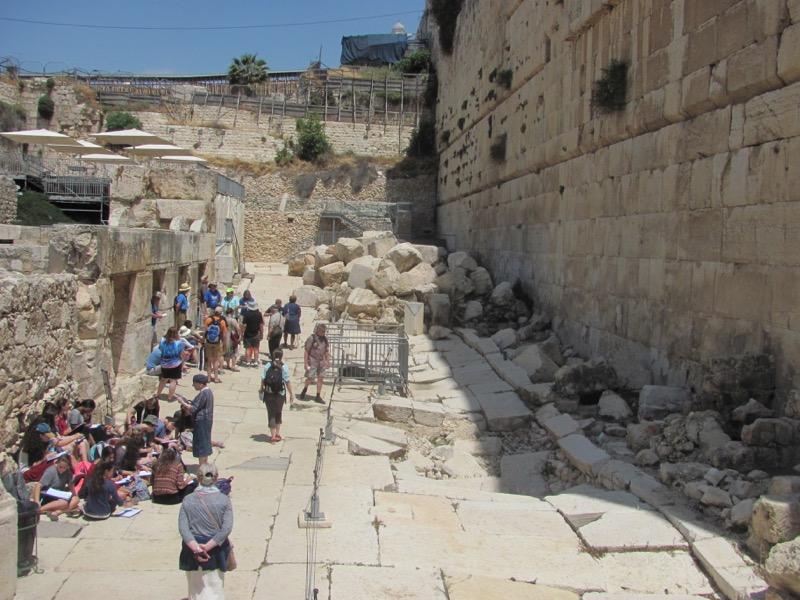 Southwall Excavations Jerusalem April 2017 Israel Tour