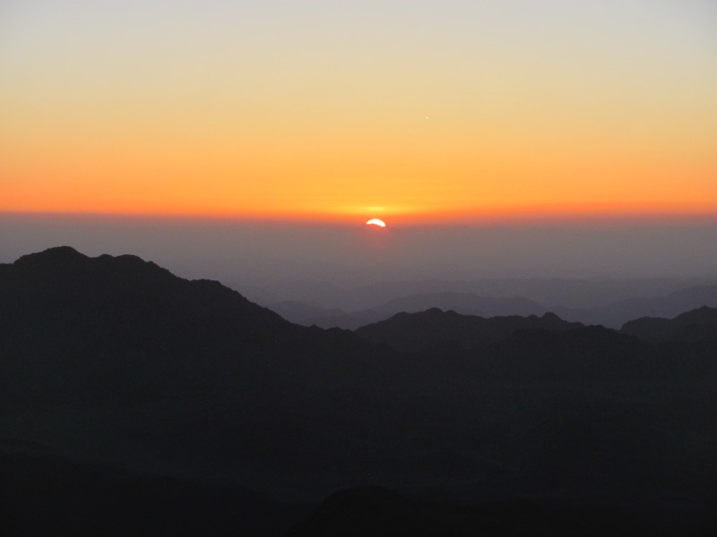 Mt. Sinai sunrise May 2017 Egypt Tour