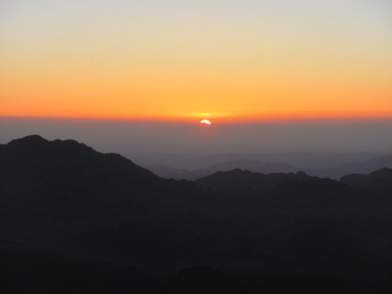 Mt. Sinai sunrise May 2017 Egypt Tour