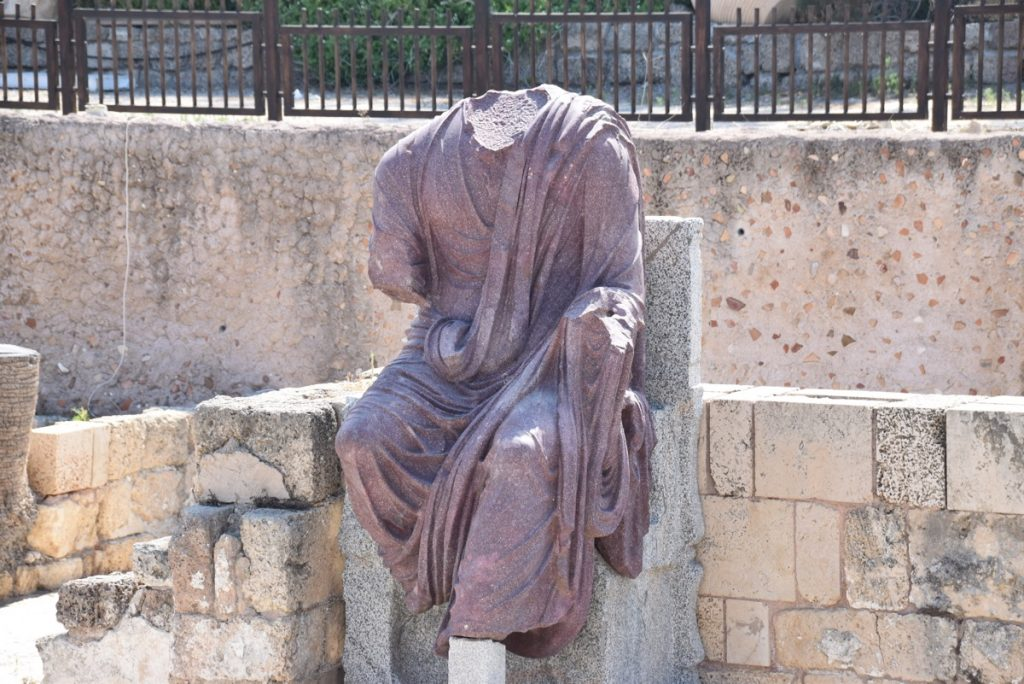 Caesarea statue June 2017 Israel Tour