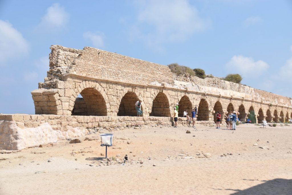 Caesarea aqueduct June 2017 Israel Tour