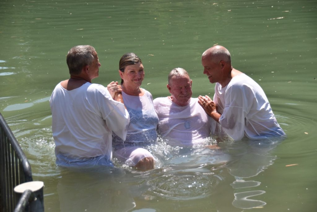 Jordan River Baptism June 2017 Israel Tour